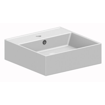 Teorema 31.5 Console Bathroom Sink with Overflow Faucet Mount: Single