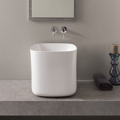 Moon Square Vessel Bathroom Sink