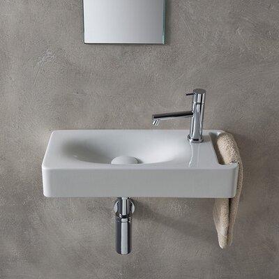 Hung Ceramic 24 Wall Mount Bathroom Sink