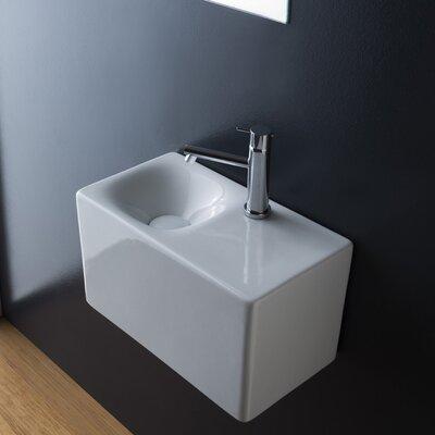 Cube Ceramic 17 Wall Mount Bathroom Sink