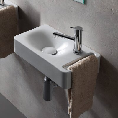 Hung 16 Wall Mounted Bathroom Sink