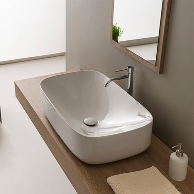 Moon Ceramic Oval Vessel Bathroom Sink