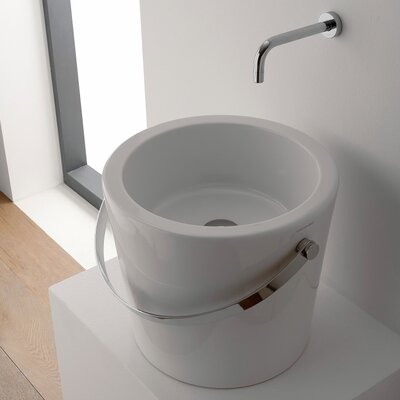 Bucket Ceramic Circular Vessel Bathroom Sink