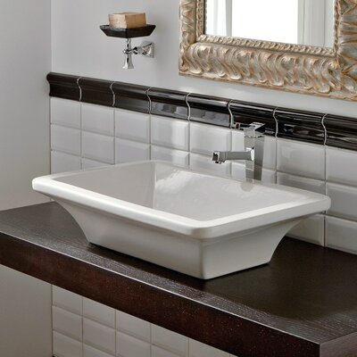 Butterfly Ceramic Rectangular Vessel Bathroom Sink