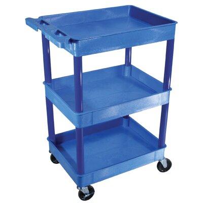 Three Shelf Utility Cart Color: Blue BUSTC111BU