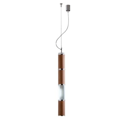Bambu Pendant Size / Finish: 31.49 / Inox and Wood Diffuser