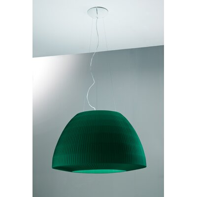 Bell Design Pendant Lamping: Fluorescent, Size: Extra Large, Finish: Green