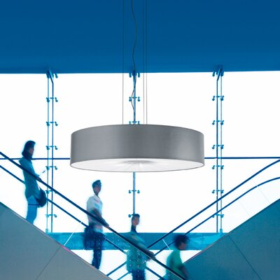 Skin Single Tier Drum Pendant (Fluorescent) Finish: White with Warm White Diffuser, Size: 126 H x 63 W