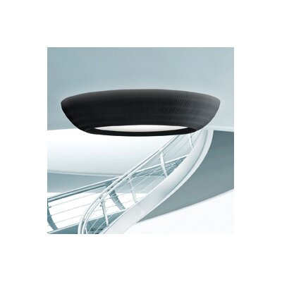 Lightecture Flush Mount Size: Large, Bulb Type: E26 Incandescent, Color: Black