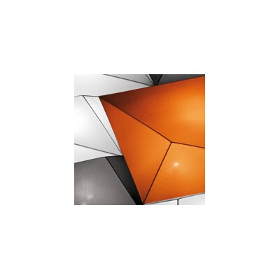 Ukiyo 3-Light Flush Mount Color: Orange / Black, Bulb Type: (1) 2Gx13 x Max 55W
