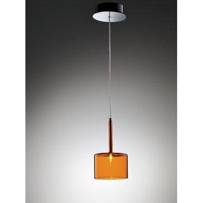 Spillray 1-Light Mini Pendant Shade Color: Orange, Size: 5.5D X 3.875H