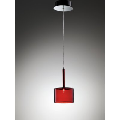 Spillray 1-Light Mini Pendant Shade Color: Red, Size: 5.5D X 3.875H