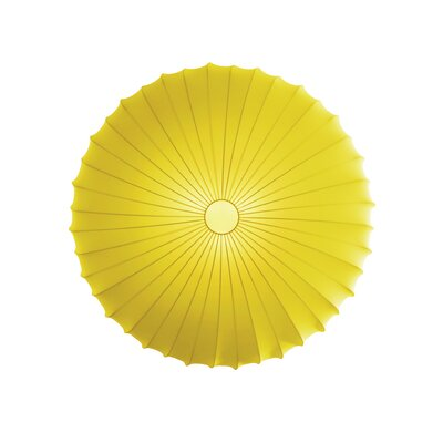 Muse 3-Light Flush Mount Size: Large, Color: Yellow, Bulb Type: Fluorescent/Incandescent