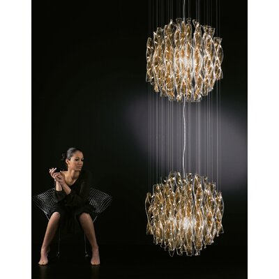 Avir 2-Light Globe Pendant Finish/Color/Size: Polished Steel/Tea/Large