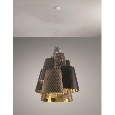Axo - Melting Pot 120-Light Geometric Pendant Shade Color: Dark Brown