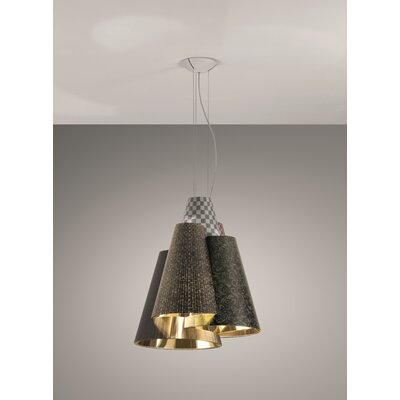 Axo - Melting Pot 60-Light Geometric Pendant Shade Color: Dark Brown