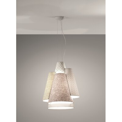 Axo - Melting Pot 60-Light Geometric Pendant Shade Color: Off White