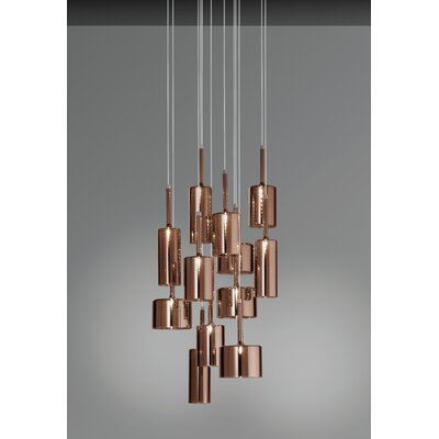 Axo - Spillray 12-Light Cascade Pendant Shade Color: Red