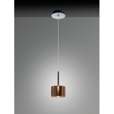 Spillray 1-Light LED Pendant Shade Color: Red