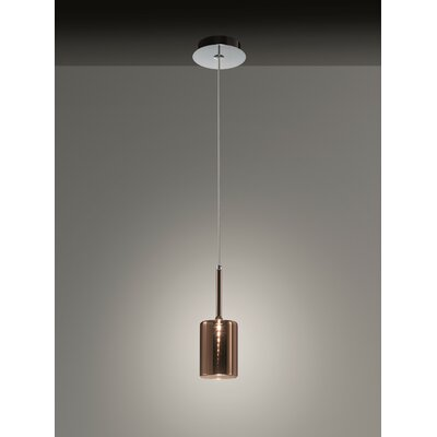 Spillray 1-Light Pendant Shade Color: Red