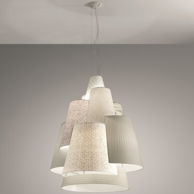 Axo - Melting Pot 120-Light Geometric Pendant Shade Color: Off White