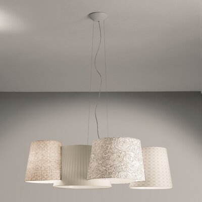 Axo - Melting Pot 115-Light Geometric Pendant Shade Color: Off White
