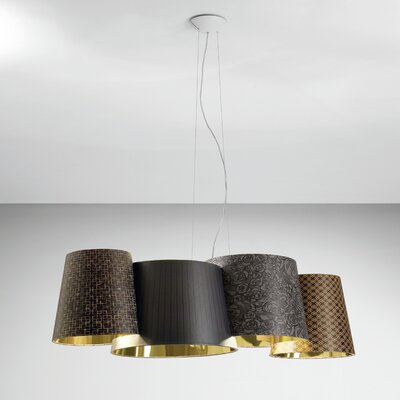 Axo - Melting Pot 115-Light Geometric Pendant Shade Color: Dark Brown