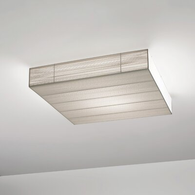 Clavius 90 Ceiling Light Flush Mount Shade Color: Tobacco, Bulb Type: Fluorescent