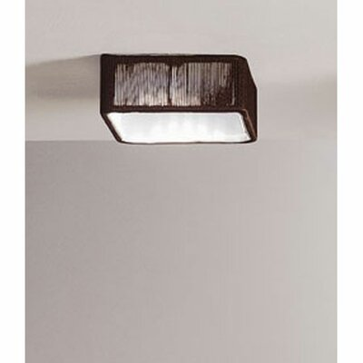 Clavius 1-Light Flush Mount Transformer: No