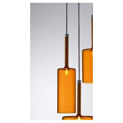 Spillray 1-Light Mini Pendant Shade Color: Grey, Size: 5.5D X 3.875H