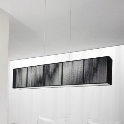 Clavius Linear Pendant Color: Black, Bulb Type: Fluorescent, Metal Color: Chrome