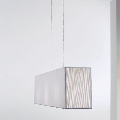 Clavius Linear Pendant Color: White, Bulb Type: Fluorescent, Metal Color: Chrome