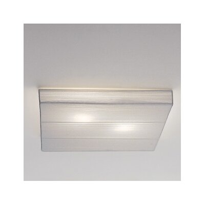 Clavius Flush Mount Finish: White, Bulb Type: Incandescent