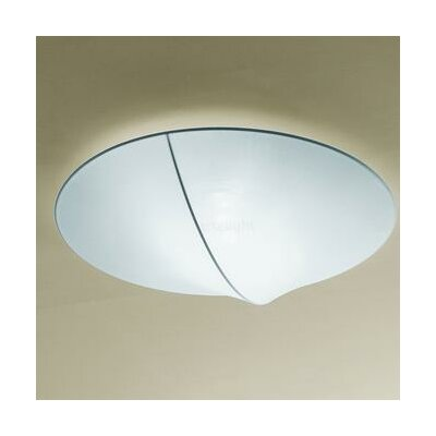 Nelly 3-Light Flush Mount Color: White, Size / Bulb Type: 5.88 H x 39.38 D/Halogen