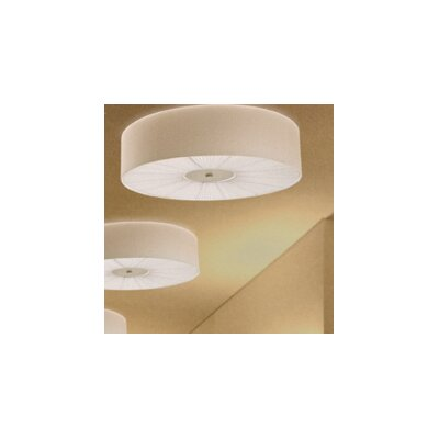 Skin Drum Pendant Finish: White with Warm White Diffuser, Size: 10.25 H x 39.38 W