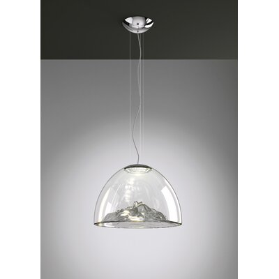 Mountain View 1-Light Bowl Pendant Base Finish: Chrome, Shade Color: Gray