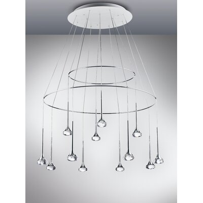 Fairy 12-Light Cascade Pendant Shade Color: Crystal