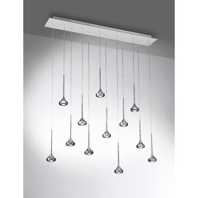 Fairy 12-Light Kitchen Island Pendant Shade Color: Grey