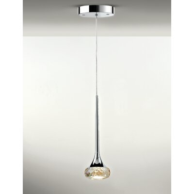 Fairy 1-Light Mini Pendant Shade Color: Amber