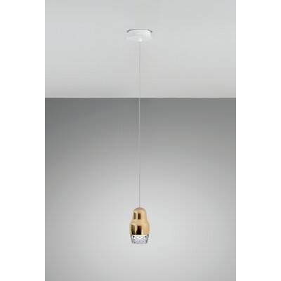 Fedora 1-Light Mini Pendant Shade Color: Rose Gold