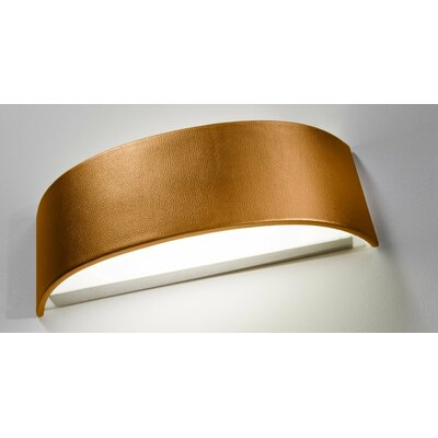 Skin Flush Mount Size: 10.25 H x 39.38 W, Finish: Gold