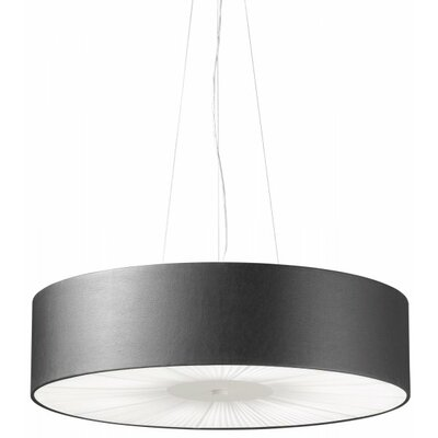Skin Drum Pendant Finish: Brown with White Diffuser, Size: 10.25 H x 39.38 W