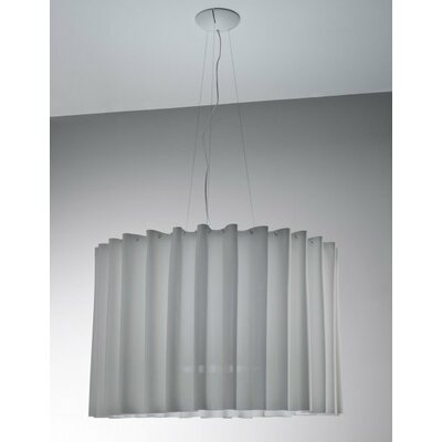 Skirt 1-Light Semi Flush Mount Shade Color: Light Grey, Size: Large