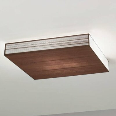 Clavius Flush Mount Finish: Black, Bulb Type: Fluorescent
