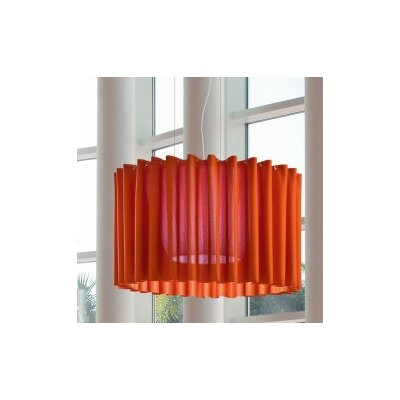 Skirt 1-Light Semi Flush Mount Shade Color: Orange, Size: Small