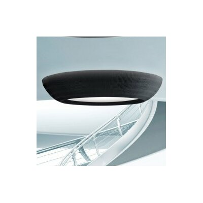 Bell Flush Mount Finish: Black, Size: 24
