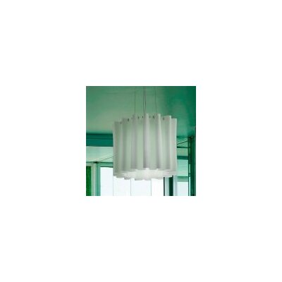 Skirt 1-Light Semi Flush Mount Shade Color: White, Size: Small