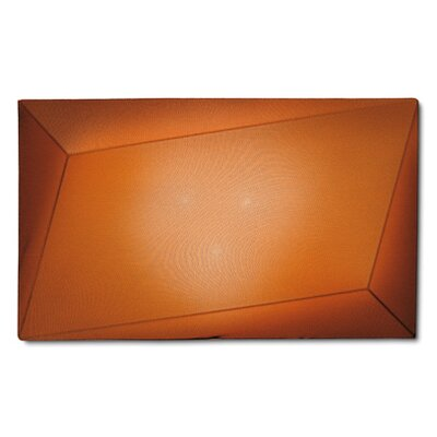 Ukiyo 1-Light Flush Mount Finish: Orange / Black, Bulb Type: (3) E26 Max 100W