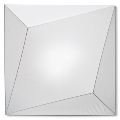Ukiyo 3-Light Flush Mount Finish: White / White, Bulb Type: (3) E26 Max 100W