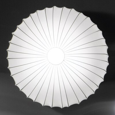 Muse 3-Light LED Flush Mount Shade Color: White, Size: 47.25 H x 7.5 W X 7.5 D